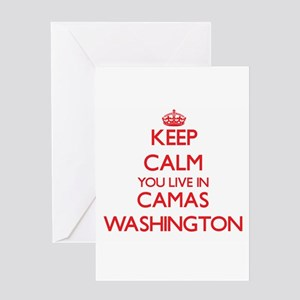 Keep calm you live in Camas Washing Greeting Cards